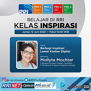 Mollyta Mochtar berbagi inspirasi lewat konten digital di RRI PRO 2 FM