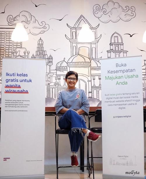 Mollyta fasilitator Gapura Digital dan Womenwill Medan