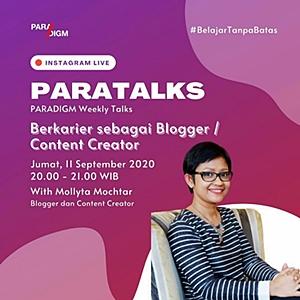 Mollyta Mochtar Berkarir sebagai Blogger/Content Creator