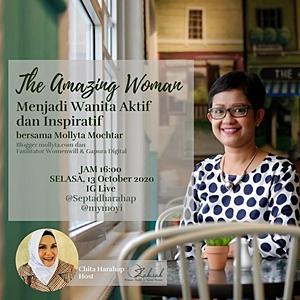 Mollyta Mochtar Blogger inspiratif asal kota Medan
