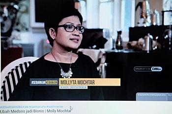 Mollyta Mochtar Ubah Media Sosial jadi Bisnis di DAAI TV