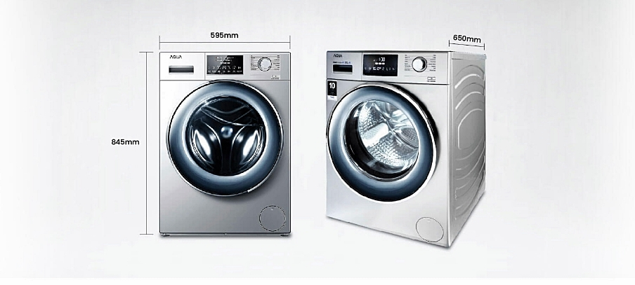 Mesin cuci bukaan depan AQUA Japan